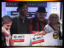 Winners of Andy's Bar Pub Finals: Dennis Adams and Thabo Fergusson