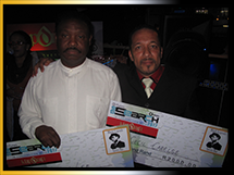 Winners of Black Legends Pub Finals: Cecil Carelse and Calvin Lee