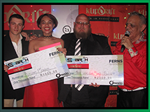 Winners of Ferns Sports Bar Pub Finals: Peet vd Berg and Kirsten Markin