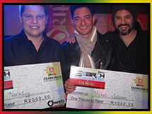 Winners of Ferreira's Pub Finals: Nick Neethling and Michali Salamon