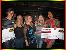 Winners of Molly Malones Pub Finals: Hanco Van Der Merwe and Lyla Hurdes
