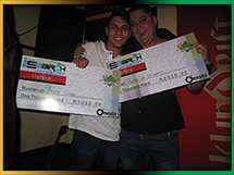Winners of Murphy's Pub Finals: Renier Van Straaten and Frans Grabe