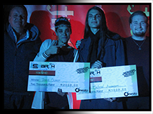 Winners of Rumours Rock City Pub Finals: Tasha Slater and Michael Anderson